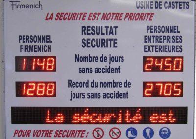 afficheur de sécurité de travail